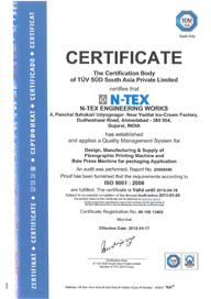 N-TEX Engineering Works :: ISO 9001:2008